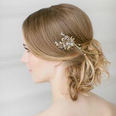 Gold Floral Hair Cascade | LavenderByJurgita