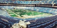 Here's What Happens When You Abandon A Football Stadium----------Pontiac Silverdome in Detroit where the Detroit Lions played,  abandoned,