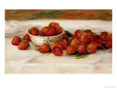 Strawberries Art by Pierre-Auguste Renoir at AllPosters.com