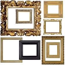 Vintage Frames Spray Painted White For Gallery Wall