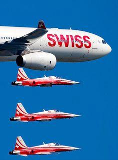 Swiss Air Force F-5 Tigers.