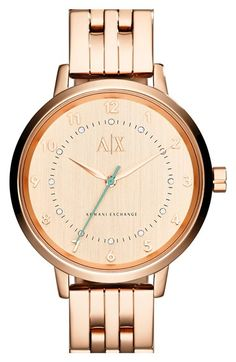 See more. AX Armani Exchange Crystal Marker Bracelet Watch, 39mm available  at  Nordstrom Stainless Steel Bracelet 268f7e5350e