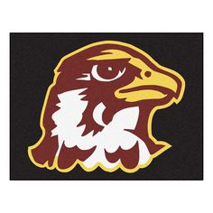 Quincy Hawks Black Tufted Area Rug