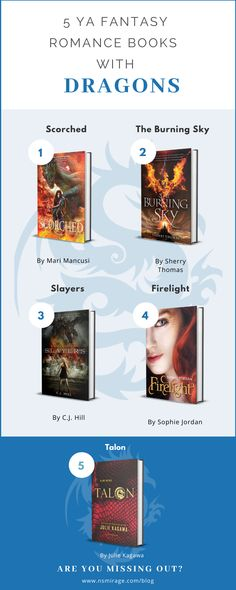 Are you looking for great YA fantasy romance books with dragons? If so, here are five YA fantasy romances centered around these winged creatures! Best Fantasy Romance Books, Fantasy Books To Read, Book Suggestions, Book Recommendations, Book Show, Book Series, Ya Books, Good Books, Growing Up Book
