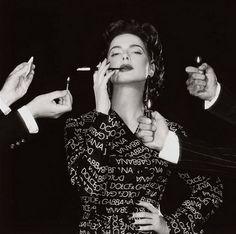 Isabella Rossellini, Milan, photographed by Michel Comte