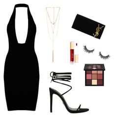 """Night Out"" by mandaanguyen on Polyvore featuring Ettika, Yves Saint Laurent and Huda Beauty"