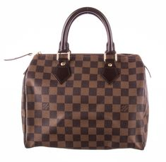 41dfa0e2fee1 LOUIS VUITTON Brown Damier Ebene Canvas Speedy 25 Bag  fashion  clothing   shoes