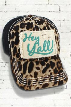 f345b0143e6 Hey Y all Leopard Decorative Ball Cap in Various Colors  Graphic Baseball  Hat   Bad Hair Day Baseball Hat  Mother s Day Gift  Gift for Mom by ...