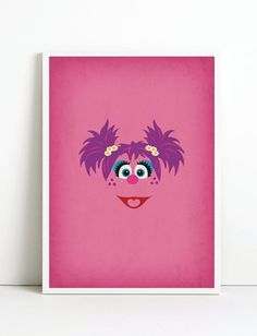 Sesame Street Minimalist Art Print Abby Cadabby  by TheRetroInc, $22.00 Vintage Retro Minimalist Style Poster Wall Art www.etsy.com/shop/TheRetroInc @The_Retro_Inc