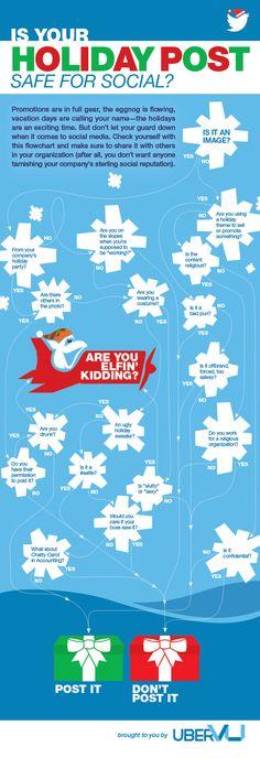 Safe Social Media Postings For #Holidays - #infographic #SocialMedia #Postings