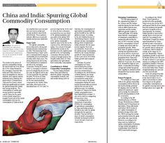 """""""China and India: Spurring Global Commodity Consumption"""" - Article Published in the October 2015 issue of Business 360 magazine!"""