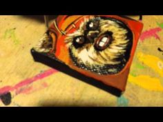 Speed Painting of WICKET! (and it's so leetle!) - YouTube  #wicket #slcomiccon #thecheekywhale #melissamae #starwars #ewok #mini #canvas #geek #nerd #fanx15 #tiny #painting #illustration