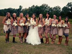 RUSTIC BRIDESMAID DRESSES-bought from Modcloth and LuLus