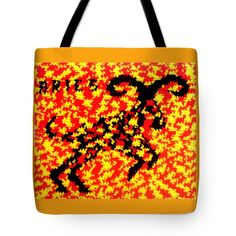 Invisible Aries Ram Bag #abstract #graphic #art #Aries #Ram #goat #zodiac #redyellowmonth #bag #tote