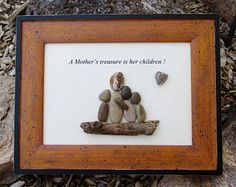 Pebble Art - Rock Art -  Mom - Mother - Children - Family - Like a Mom - Aunt - Grandma