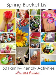 50 Projects, Crafts, Adventures and Recipes. *Pinning this for later