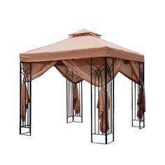 Perfect Home Essentials   10 x 10 Cabin Style Steel Gazebo   Home Depot Canada