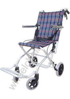 Transport Wheelchair is constructed of tough and light aluminum. Its comfort features include nylon upholstery, swing-away footrests and padded armrests. The seatbelt adds safety, while the composite wheels make mobility convenient. This lightweight transport wheelchair is easy to fold and store compactly thanks to the back-release hinge. Transport Chair makes it easier than ever for everyone to help get around in comfort.