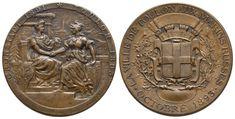 Bronzemedaille 1893 von L. Auf den russischen Flottenbesuch in Toulon Bronze, Personalized Items, Den, Toulon, Sailor, Crests, Russia, France