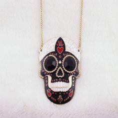 Betsy inspired black skull necklace pendant great for diy phone bling Skull Necklace, Pendant Necklace, Black Skulls, Skull And Bones, Craft Supplies, Bling, Inspired, Medium, Phone