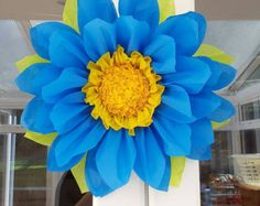 1x Large 45cm Sunflower Tissue Paper Flowers (pom-pom)Wedding/PartyCenterpiece