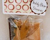 Teddy Bear S'mores - perfect for a Baby Shower or Child's Birthday Party (10 pack)
