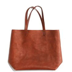 MADEWELL The Transport Tote ($168) ❤ liked on Polyvore featuring bags, handbags, tote bags, madewell, totes, leather, english saddle, leather handbags, leather man bags and man bag