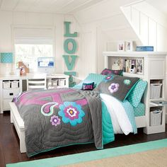 teenage girl bedroom ideas | shared bedroom | pbteencute
