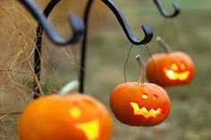 Mini pumpkin jack-o-lanterns