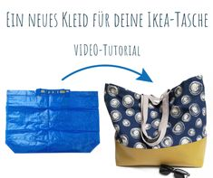 building A new dress for your IKEA bag! Beautiful VIDEO sewing instructions from Schnittbox Your Gui Ikea Outlet, Dress For You, New Dress, Compliments, Have Fun, Tote Bag, Sewing, Inspiration, Dressmaking