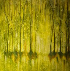 Encaustic yellow trees. Do you know the artist's name please? S