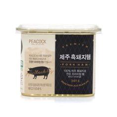 [피코크] 제주 흑돼지햄 340g