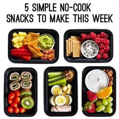 How Do Snacks Fit Into Your Healthy Meal Plan? Made by @orangesandavocados  Give Me Protein Snack Box What's in this snack: 2 hardboiled eggs. 4 oz. deli turkey, 1 oz cheese, 1 cup celery sticks with 1 Tbsp. peanut butter Portion Fix containers: 1 green, 2 red, 1 blue, 3 tsp.  Fruits and Nuts Snack Box What's in this snack: ¾ cup plain 1% Greek yogurt mixed with 1 tsp. honey and ½ tsp. cinnamon, ½ cup strawberries, ½ cup nectarine or orange wedges, ½ cup green grapes, 12 raw almonds Portion…
