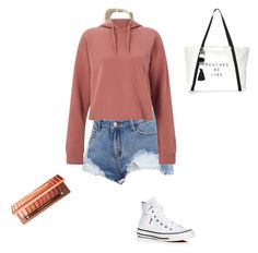 """""""Cold Breeze, Summer day🎆 #Polyvore.com"""" by drewpayton04 on Polyvore featuring Hollister Co., Miss Selfridge, Converse, Urban Decay and Milly"""