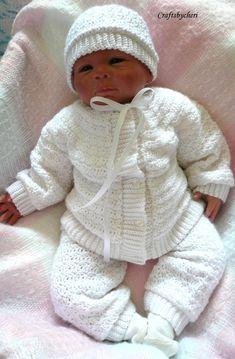 Cheri Crochet Original Baby PATTERN-Newborn to 3 months Sweater, Leggings, Hat, and Booties Baby Boy Knitting, Baby Knitting Patterns, Baby Patterns, Cardigan Bebe, Baby Boy Sweater, Baby Boy Christening, Crochet For Boys, Boy Crochet, Crochet Baby Clothes