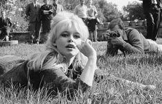Brigitte Bardot filming in Fiesole, Tuscany, 1962.