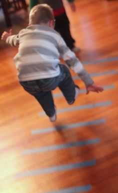 Jumping as a gross motor activity. How far can you jump?   -Repinned by Totetude.com