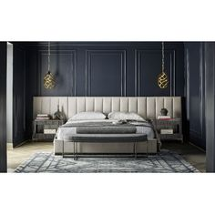 Nina Magon Upholstered Wall Bedroom Set (Sunday Cafe) Universal Furniture in Bedroom Sets. This gracefully modern Nina Magon Bedroom Collection by Universal Furniture can bring contemporary elegance to any home Bedroom Sets, Bedroom Wall, Master Bedroom, Bedroom Decor, Bedroom Furniture, Bed Room, Furniture Sets, Bedroom Headboards, Headboard Decor