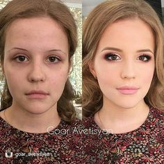 Her work is just amazing  @goar_avetisyan  #belleblushh #transformation #beforeandafter #makeuplover #makeupjunkie   repost from @goar_avetisyan Сегодня проходим яркий вечерний макияж  ну как вам?) качество фото стало круче  Our today's lesson topic is radiant makeup what do you think?