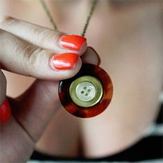 Create a Little Button Necklace