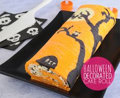 How to Make a Halloween Cake Roll