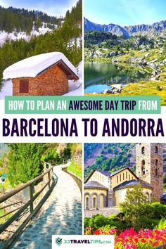 How to Plan an Awesome Day Trip from Barcelona to Andorra. Whether you like skiing, shopping for great deals, or visiting charming churches, put Andorra on your travel wish list. Here's how you plan an awesome day trip from Barcelona to Andorra. Day trip to Andorra | Andorra day trip from Barcelona | Andorra Day Trip | Pyrenees | How to get from Barcelona to Andorra | The Best Things to do in Andorra | The Best Things to See in Andorra | Where to Stay in Andorra #andorra #pyreness Spain Travel Guide, Europe Travel Tips, Travel Guides, Travel Destinations, Travel Plan, Travel Goals, Travel Hacks, European Destination, European Travel