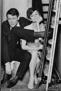 Peter O'Toole and Audrey Hepburn on the set of How to Steal a Million, 1966