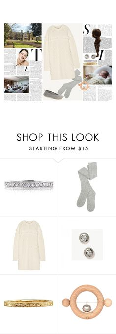 """Untitled #2813"" by duchessq ❤ liked on Polyvore featuring Mark Broumand, Tory Burch, Bonpoint and Patricia Green"