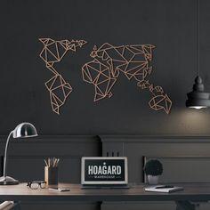 Τέχνη τοίχων μετάλλων-Παγκόσμιος Χάρτης