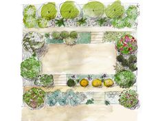Comment créer un jardin sur une pente?- My garden is a nightmare, it is small and goes down all the time! Some sketches later, it turned into colorful and friendly terraces.