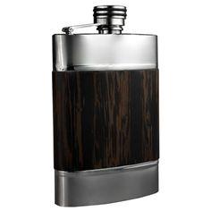 Visol Madera Wenge Wood Liquor Flask - 6 ounces