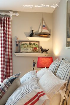 Nautical styled bedroom