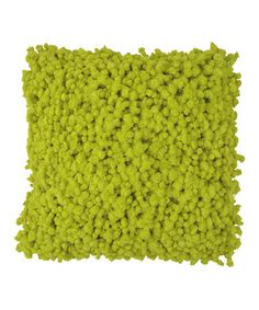 Lime Fuzzy Knotted Yarn Throw Pillow #zulily #zulilyfinds