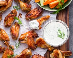 Dill Pickle Wings Dill Pickle Mayo Paleo Primal Gourmet Easy -I made these and they are sooo delish! Paleo Whole 30, Whole 30 Recipes, Wing Recipes, Paleo Recipes, Free Recipes, Cooking Chicken Wings, Chicken Legs, Paleo Appetizers, Paleo Dinner
